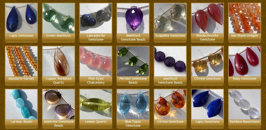 More colors than in sky: Gemstone Beads