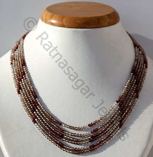 Brown Zircon Gemstone Beads