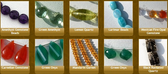 Some facets associated with gemstone beads
