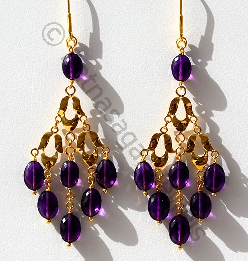 Gemstone Beads Earrings