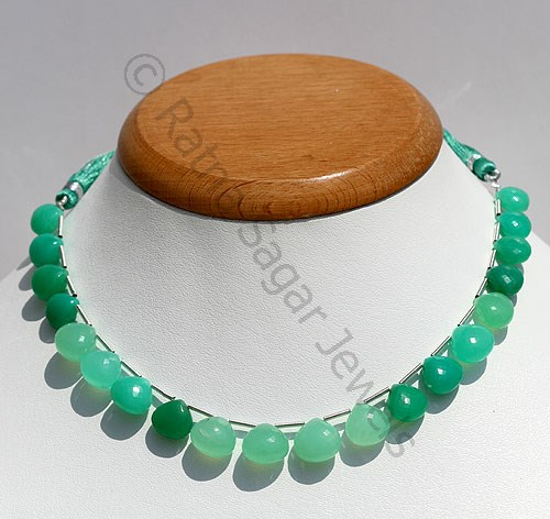 For the Lovers of Gemstone Beads- Chrysoprase!