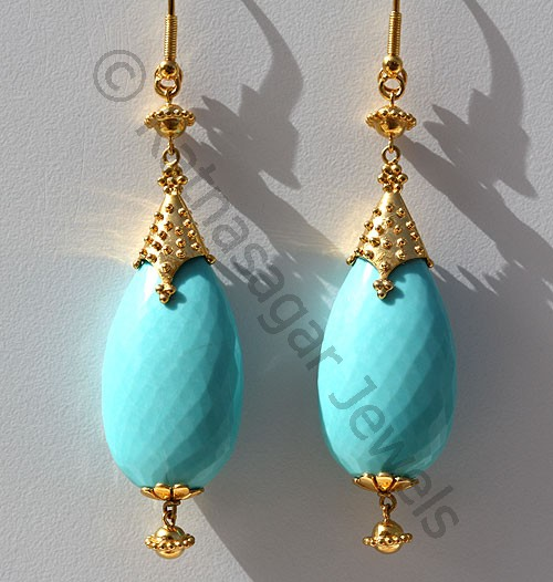 Jewelry Collection - Sleeping Beauty Turquoise Earrings