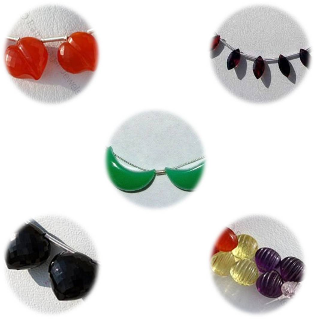 Fashion jewelry and gemstone bead shapes