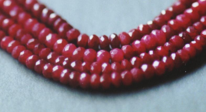 Ruby gemstones beads