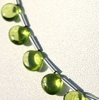 wholesale Peridot Gemstone Beads  Plain Heart
