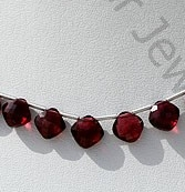 wholesale Rhodolite Garnet Cushion Shape Beads