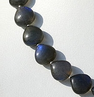 8 inch strand Labradorite Blue Power Heart Plain Beads