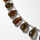 8 inch strand Andalusite Gemstone  Tear Drops Briolette
