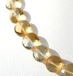 8 inch strand Citrine Gemstone  Coin