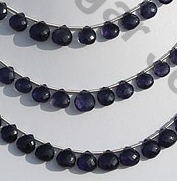 wholesale Iolite Gemstone Beads  Heart Briolette
