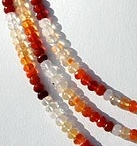 16 inch strand Mexican Fire Opal  Gemstone  Faceted Rondelle