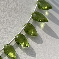 aaa Peridot Gemstone Beads  Conch Briolette