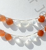 wholesale Peach Moon Stone Cushion Shape beads