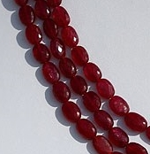 16 inch strand Ruby Gemstone Oval Faceted