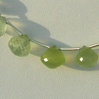 8 inch strand Prehnite Gemstone  Onion Shape