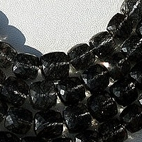 wholesale Black Rutilated Quartz  Faceted Cube