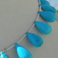 aaa Turquoise Gemstone Fancy Cut Beads