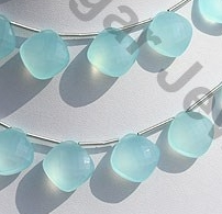 wholesale Dyed Blue Chalcedony  Puffed Diamond Cut