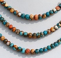 wholesale Turquoise Gemstone Faceted Rondelle