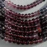 16 inch strand Multi Spinel  Faceted Rondelles
