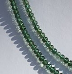 16 inch strand Green Apatite Faceted Rondelle