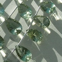 aaa Green Amethyst Gemstone Concave Cut Pan