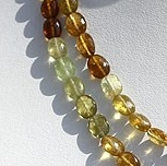 16 inch strand Grossular Garnet Faceted Oval