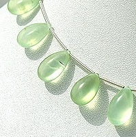 wholesale Prehnite Gemstone  Flat Pear Plain