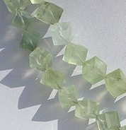 Prehnite Gemstone  Faceted Cube