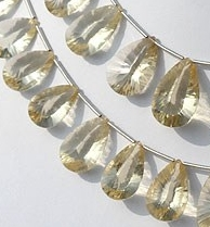 8 inch strand Scapolite Gemstone Concave Cut Pan