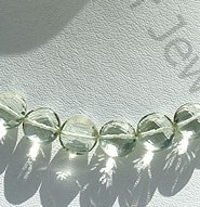 wholesale Green Amethyst Gemstone  Coin Beads