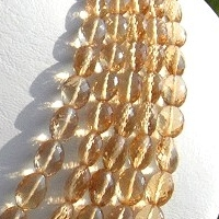 wholesale Champagne Citrine  Oval Faceted