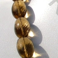 16 inch strand Beer Quartz  Faceted Nuggets