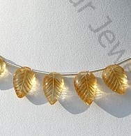 wholesale Citrine Gemstone  Carved leaf