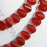 aaa Carnelian Gemstone Twisted Flat Pear