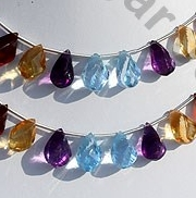 wholesale Semi Precious Gemstone Twisted Tear Drop