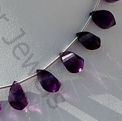 aaa Amethyst Gemstone Twisted Tear Drops