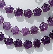 wholesale Amethyst Gemstone Flower Beads