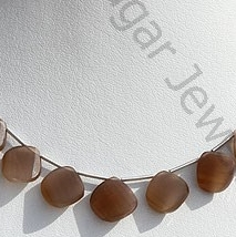 wholesale Coffee Moonstone Twisted Heart Briolette