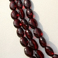 16 inch strand Garnet Gemstone Oval Faceted