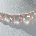 wholesale Rose Quartz Twisted Tear drops