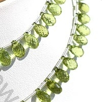 wholesale Peridot Gemstone Beads  Tear Drops Briolette