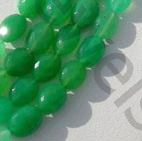 aaa Chrysoprase Gemstone  Oval Faceted