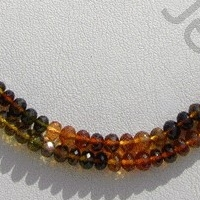 wholesale Tourmaline Gemstone Beads  Faceted Rondelle