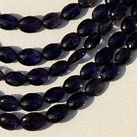 wholesale Iolite Gemstone Beads  Oval Faceted
