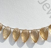 wholesale Champagne Citrine Carved Leaf