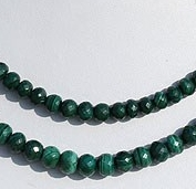 wholesale Malachite Faceted Rondelle