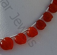 aaa Carnelian Gemstone Faceted Chubby Heart