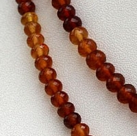 16 inch strand Hessonite Garnet  Faceted Rondelles