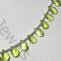 aaa Peridot Gemstone Beads  Twisted Flat Pear